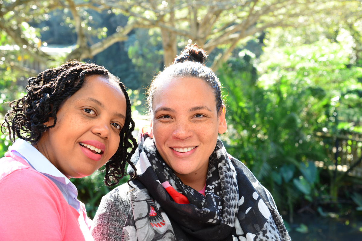 Wendy Mphatswe, SANTHE PhD trainee, UKZN, and Lenine Liebenberg, SANTHE Collaborative Grant Awardee, CAPRISA.